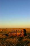 El coche de la pradera Fotos de archivo