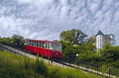 El coche del ferrocarril funicular Imagen de archivo