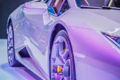 El coche del negocio de Hood Of Modern Sport Or con Matte Silver Met Imágenes de archivo libres de regalías