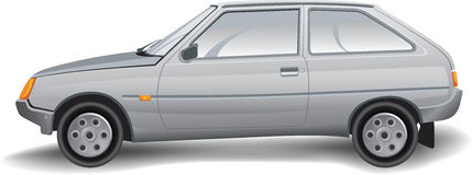 El coche del vector Imagen de archivo libre de regalías