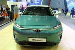 El coche eléctrico de Hyundai Kona es una cruce subcompact SUV de la cinco-puerta diseñado por Hyundai, fotografía de archivo