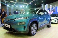 El coche eléctrico de Hyundai Kona, es una cruce subcompact SUV de la cinco-puerta diseñado por Hyundai, fotos de archivo