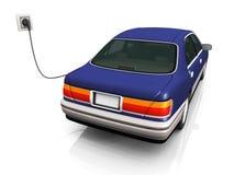 El coche eléctrico que lo carga es baterías. Imagen de archivo