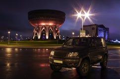El coche en el área en Kazán Fotografía de archivo libre de regalías