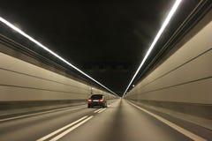 El coche en el túnel submarino Fotos de archivo libres de regalías