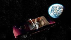 El coche en espacio Fotos de archivo libres de regalías