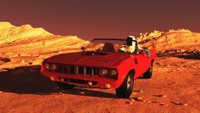El coche en Marte Fotos de archivo