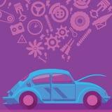 El coche mantiene el fondo del concepto Foto de archivo libre de regalías