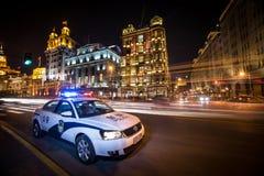 El coche policía foto de archivo libre de regalías