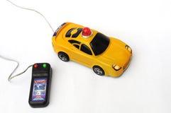 El coche policía del juguete Imagenes de archivo