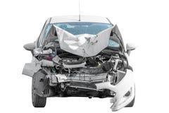 El coche quebrado después de un accidente se aísla Imagen de archivo libre de regalías