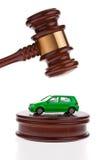 El coche será subastado. Venta de ejecución de una hipoteca. Fotos de archivo libres de regalías