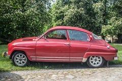 El coche sueco clásico Saab parqueó Imagen de archivo libre de regalías