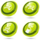 El coche verde firma adentro 3D Imágenes de archivo libres de regalías