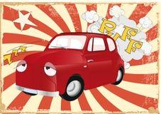 El coche viejo cansado que hace publicidad Foto de archivo libre de regalías