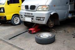 El coche y la reparación de las herramientas Fotografía de archivo libre de regalías