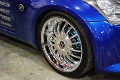 El coche Z33 en una exposición en ` de la expo del azafrán del `, 2012 de Nissan 350Z moscú Fotos de archivo