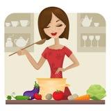 El cocinar Imagen de archivo