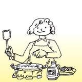 El cocinar Foto de archivo libre de regalías