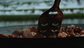 El cocinar al aire libre Foto de archivo libre de regalías