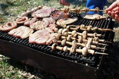 El cocinar - barbacoa Fotos de archivo libres de regalías