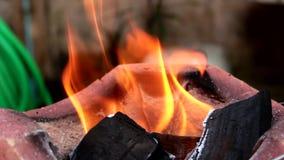 El cocinar caliente del brasero de la quemadura del fuego