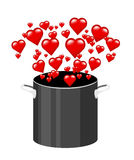 El cocinar con amor Imagen de archivo