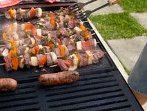 El cocinar de la barbacoa. Foto de archivo libre de regalías