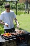 El cocinar de la barbacoa Fotos de archivo libres de regalías