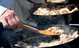 El cocinar de la cacerola Imagenes de archivo