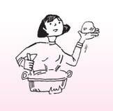 El cocinar de la mujer Foto de archivo