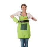 El cocinar de la mujer joven Foto de archivo libre de regalías