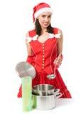 El cocinar de la Navidad Imágenes de archivo libres de regalías