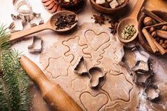 El cocinar de la Navidad Imagen de archivo libre de regalías