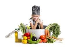 El cocinar de la sonrisa Foto de archivo