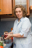 El cocinar de las mujeres Fotos de archivo libres de regalías