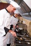 El cocinar de los cocineros Fotografía de archivo
