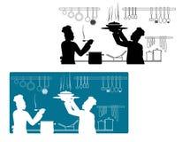 El cocinar de los cocineros stock de ilustración