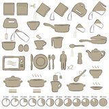 El cocinar de los iconos Imagenes de archivo