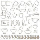 El cocinar de los iconos Imagen de archivo libre de regalías