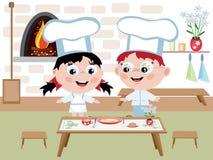 El cocinar de los niños Imágenes de archivo libres de regalías