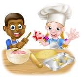 El cocinar de los niños de la historieta Fotografía de archivo libre de regalías