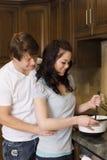 El cocinar de los pares Fotografía de archivo