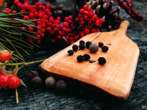 El cocinar de madera de la pala Foto de archivo libre de regalías