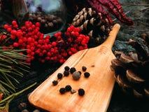 El cocinar de madera de la pala Fotografía de archivo