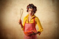 El cocinar del ama de casa Foto de archivo