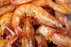 El cocinar del camarón Imagen de archivo
