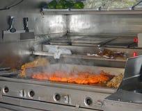El cocinar del carro de la comida Foto de archivo