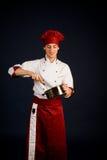 El cocinar del cocinero foto de archivo