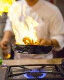 El cocinar del cocinero Imagen de archivo libre de regalías